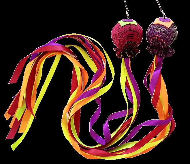 Comprar cariocas malabares artesanas pois ardientes asimetricas